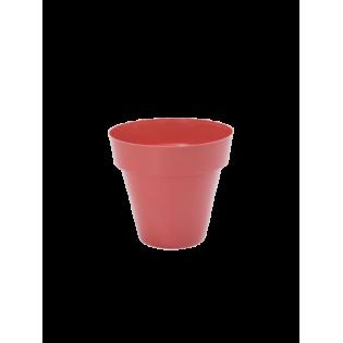 Vaso Redondo 14cm Vermelho