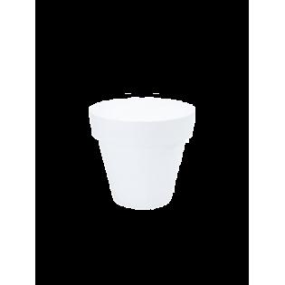 Vaso Redondo 22cm Branco